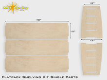 Load image into Gallery viewer, Flat Pack Plywood Shelving Birch Parts Kit
