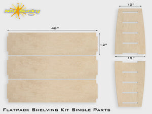 Flat Pack Plywood Shelving Birch Parts Kit