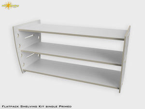 Flat Pack Pre=Primed Shelving Kit