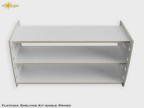 Flat Pack Pre=Primed Shelving Kit Front View