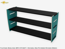 Load image into Gallery viewer, Flat Pack Stained Plywood Shelving Kit Green