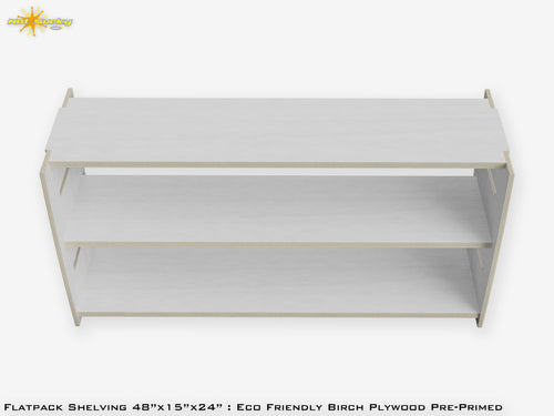 Flat Pack Shelving Kit : Primed Eco Friendly Plywood