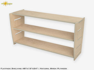 Flat Pack Plywood Shelving Kit Birch