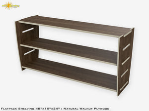 Flat Pack Plywood Shelving Kit Walnut