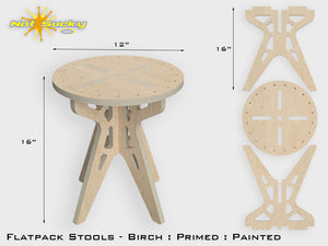 Flat Pack Stool Kit Birch Dimensions by Not Sucky