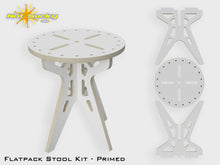 Load image into Gallery viewer, Flat Pack Stool Kit Primed - 16 Inches