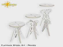 Load image into Gallery viewer, Flat Pack Stool Kit Assembly View