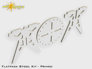 Flat Pack Stool Kit Parts View