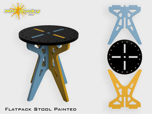 Flat Pack Stool Kit : Painted