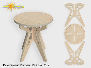 "Flat Pack Stool Kit Birch 16"" by Not Sucky"