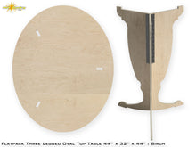 Load image into Gallery viewer, Flat Pack Tall Oval Table Kit - Base and Top