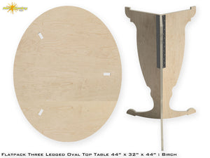 Flat Pack Tall Oval Table Kit - Base and Top
