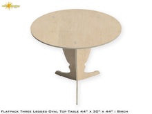 Load image into Gallery viewer, Flat Pack Tall Pedestal Oval Top Table Kit : Birch