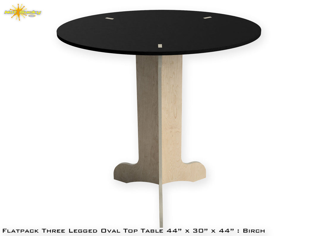 Flat Pack Tall Oval Table Kit : Market Table Straight Legs Black Top