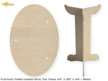 Load image into Gallery viewer, Flat Pack Tall Oval Table Kit : Market Table Straight Legs