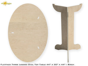 Flat Pack Tall Oval Table Kit : Market Table Straight Legs