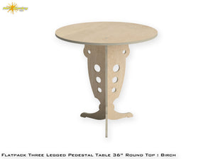 Flat Pack Round Pedestal Table Kit :  Birch