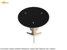 Load image into Gallery viewer, Flat Pack Round Pedestal Table Kit :  Birch Stained Top