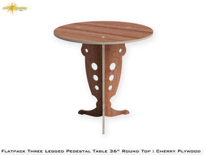 Flat Pack Round Pedestal Table Kit :  Cherry