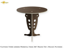Load image into Gallery viewer, Flat Pack Round Pedestal Table Kit :  Walnut