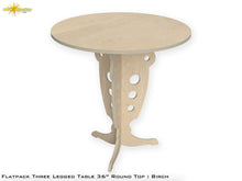 Load image into Gallery viewer, Flat Pack Round Pedestal Table Kit :  Birch