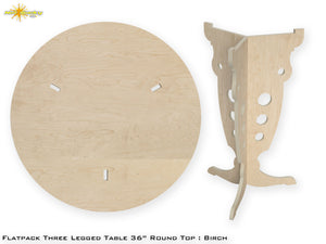 "Flat Pack 36"" Round Table Kit"