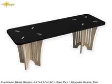 Load image into Gallery viewer, Flat Pack Deco Oak Plywood Bench - Stained Black Seat