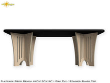 Load image into Gallery viewer, Flat Pack Deco Plywood Bench - Stained Black Seat Oak