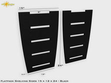 Load image into Gallery viewer, Flat Pack Shelving Side Pair 15 x 12 x 24 - Stained Black