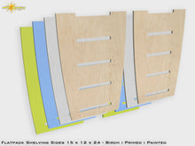 Load image into Gallery viewer, Flat Pack Shelving Sides 15 x 12 x 24 Birch/Primed/Painted