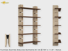 Load image into Gallery viewer, Flat Pack Slotted Modern Bookshelf Kit