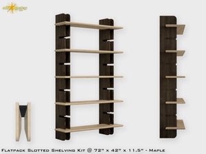 Flat Pack Slotted Modern Bookshelf Kit