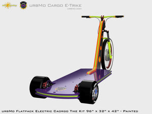 Urbmo Cargo Trike - Flat Pack Urban Mobility Electric Vehicle Kit - Rear Isometric View