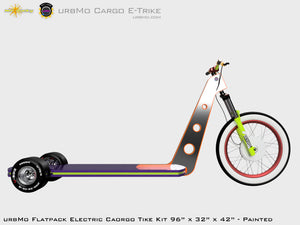 Urbmo Cargo Trike - Flat Pack Urban Mobility Electric Vehicle Kit - Side View