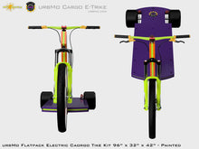 Load image into Gallery viewer, Urbmo Cargo Trike - Flat Pack Urban Mobility Electric Vehicle Kit - Front View