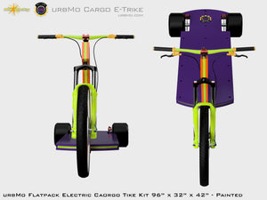 Urbmo Cargo Trike - Flat Pack Urban Mobility Electric Vehicle Kit - Front View
