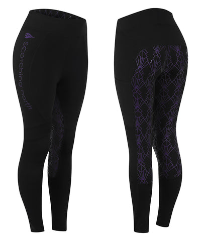GEO Technical Riding Tights - Black/Purple
