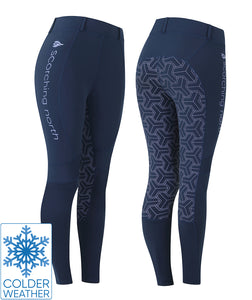 THERMO Technical Riding Tights - Blue/Lavender