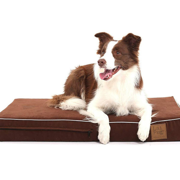 Laifug Orthopedic Memory Foam Dog Bed with Durable Water Proof Liner and Removable Design Washable Cover