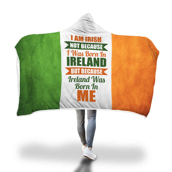 I Am Irish Hooded Blanket