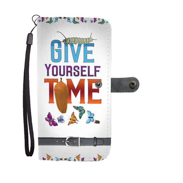 Give Yourself Time Butterfly Wallet Case