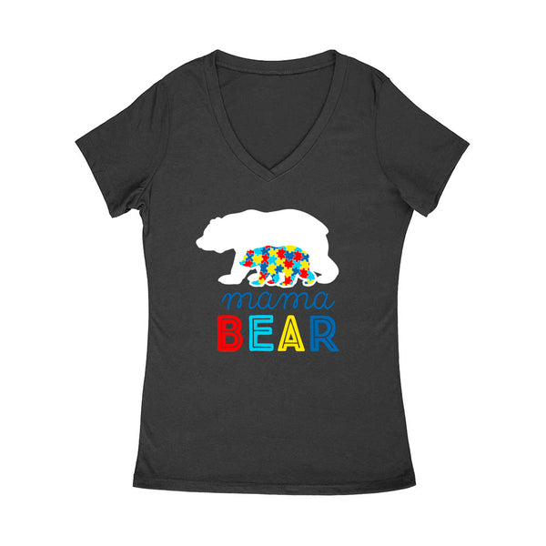 Mama Bear Womens V-Neck