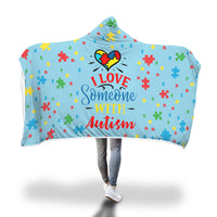 Premium Autism Awareness Hooded Blanket