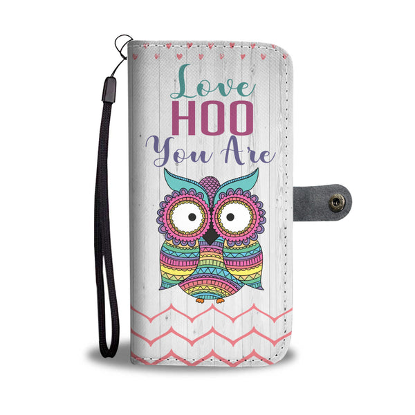 Love Hoo You Are Owl Wallet Case