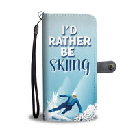 Rather Be Skiing Wallet Case