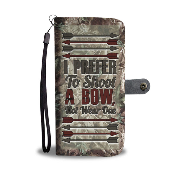 I Prefer To Shoot a Bow Wallet Case