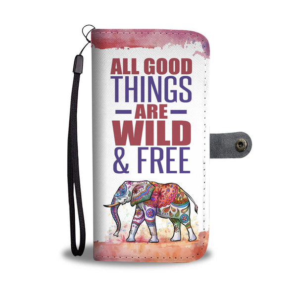 Wild & Free Elephant Wallet Case