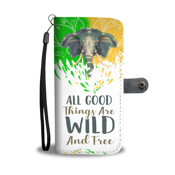 All Good Things Elephant Wallet Case