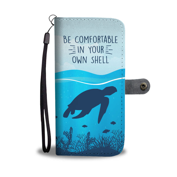 In Your Own Shell Turtle Wallet Case