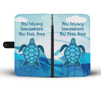You Belong Turtle Wallet Case